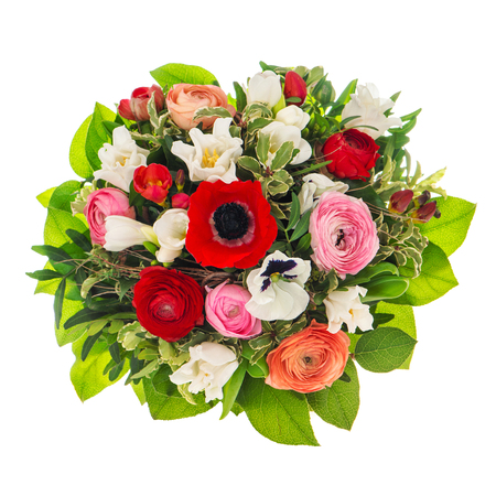 Flower bouquet isolated on white background. Floral decoration 版權商用圖片