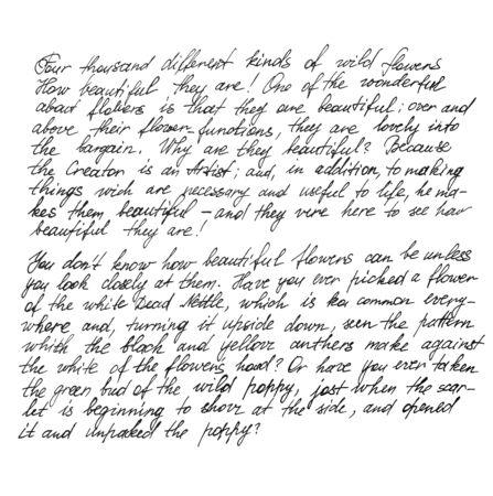 Texte non défini avec des mots anglais. Lettre manuscrite. Écriture. Calligraphie. Manuscrit. Scénario. Police de caractère. Fond de texture abstraite