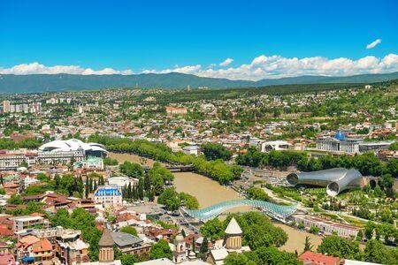 Panoramic view of  Tbilisi, Georgia. Cily landscape Фото со стока