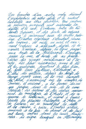 Handwritten unreadable text. Handwriting. Calligraphy. Signature. Letter. Abstract texture background Stock fotó - 155425050
