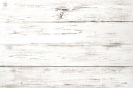 Wooden background with white colored planks. Natural wood pattern Stock Photo