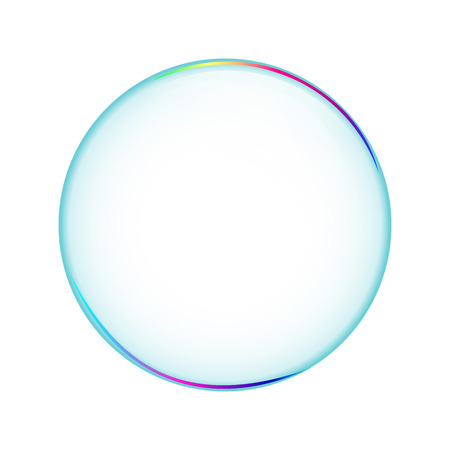 Bubble transparent, isolated soapbubble in white background. Object