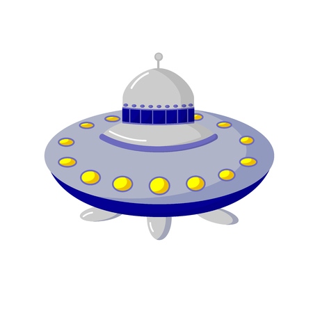 unidentified flying object: Space objects. Astronautics science. flying saucer Illustration