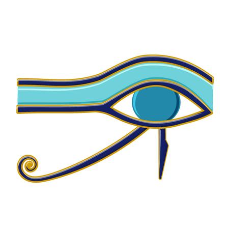 Egyptian Eye of Horus symbol. Religion and Myths Ancient Egypt