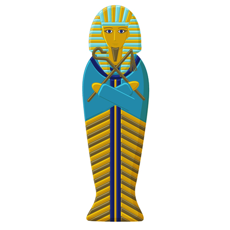 La tumba del faraón del antiguo Egipto. Sarcófago del Faro. Momia de la regla egipcia Foto de archivo - 75163406