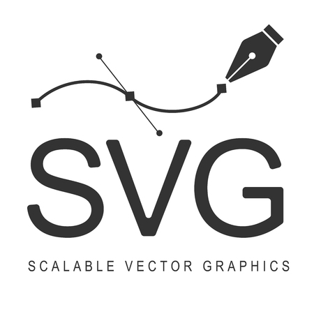 Scalable Vector Graphics, format svg. Responsive disign. Illustration