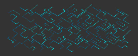 illuminate: Vector blue techno background. board or microchip. Nanotechnology Illustration