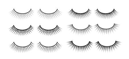 False eyelashes. Fake the cilia. A collection of six sets. Stok Fotoğraf
