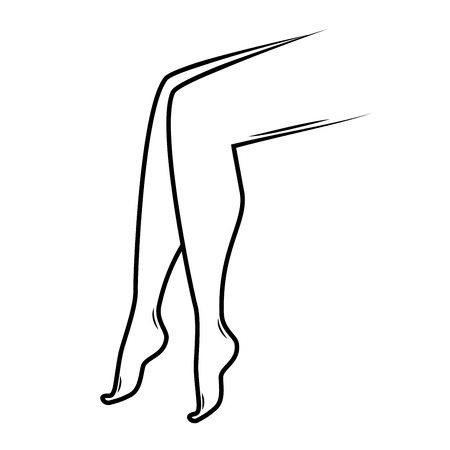 Logo per gambe o piedi per ortopedia. procedura di cosmetologia Epilazione laser per IPL fooot