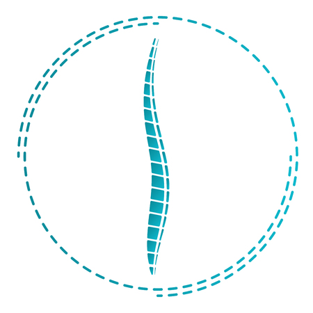 Logo of the doctor orthopedist. Symbol of Orthopedics Medicine. Icon Spine