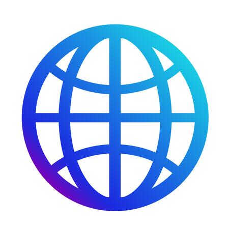 icon internet. Symbol of the website. Globe sign Illustration