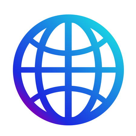 icon internet. Symbol of the website. Globe sign Vettoriali