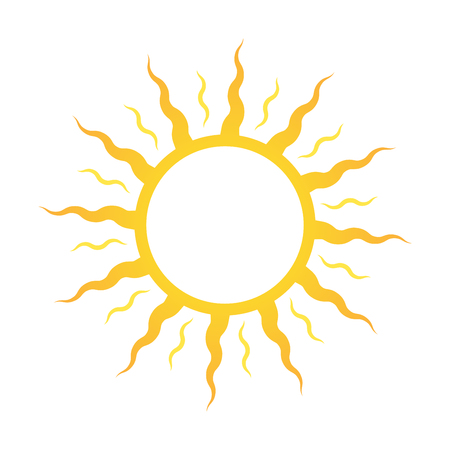 Icon or logo sun, for sun deck or cosmetics for sunbathing.