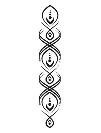 Black pattern for tattoos or mehendi. Elements for design and decoration. Illustration