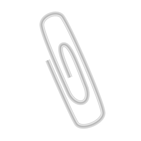 Metal clip. Isolated office object