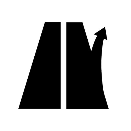 road sign exit from the motorway. Right arrow. Highway or track Illustration