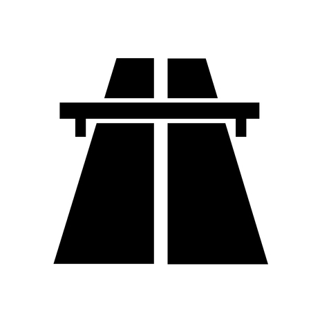 Road sign indicating a toll road or motorway.