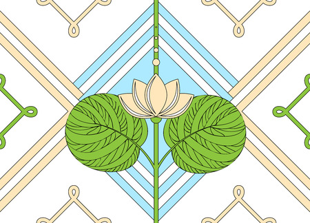 Ornament of the lotus seamless floral pattern.
