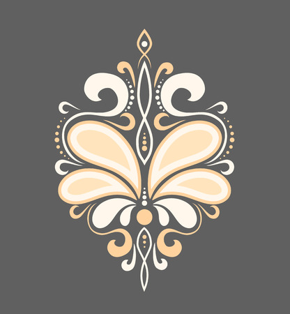 beautiful luxury pattern with curls. Ornament for fabric and decoration. Illustration