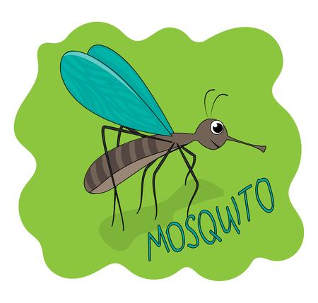 Fun illustration cute MOSQUITO. Stock Vector - 88589110