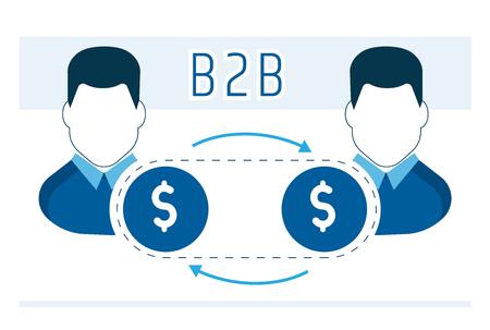 bedrijfsmodel van samenwerking van partners B2b Stock Illustratie