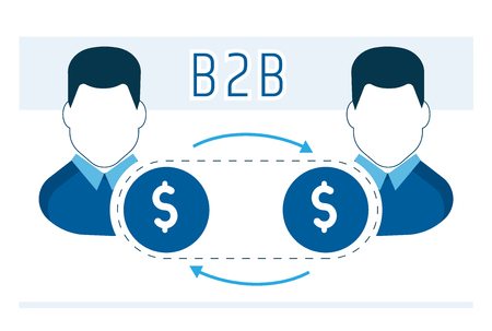 business model of cooperation of partners B2b Иллюстрация