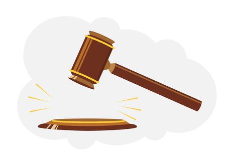 Martillo de juez de madera. Signo de la ley y la justicia
