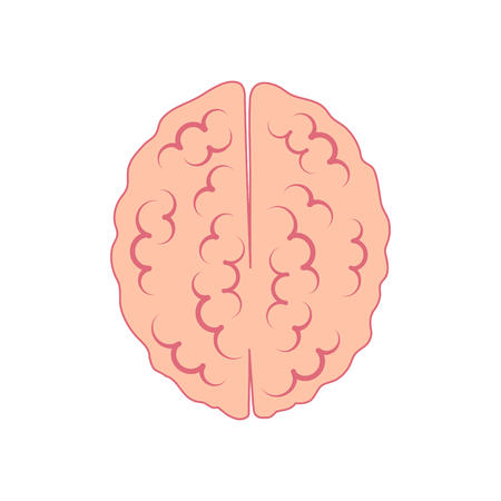 brain icon view from above. symbol of reason and logic