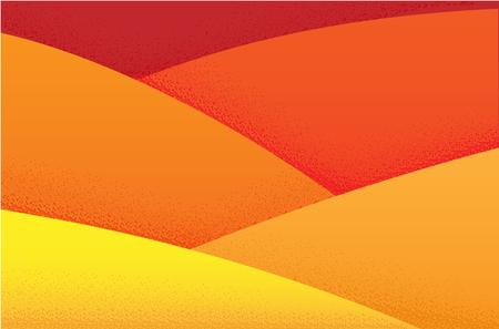 粒状の質感を持つオレンジ色の暖かい砂漠の背景。丘や砂の山
