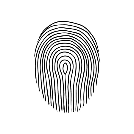 fingerprint or dactylogram. The evidence in the detective investigation of the crime. Symbol of the protection system