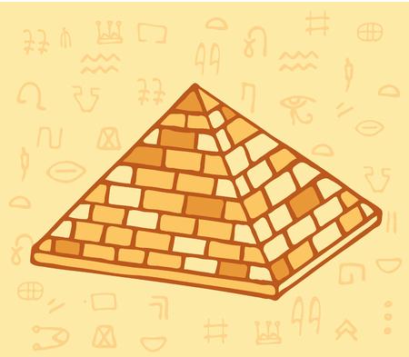 Pyramid of ancient Egypt of blocks Illustration