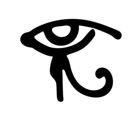 Egyptian Eye of Horus symbol. Religion and Myths Ancient Egypt