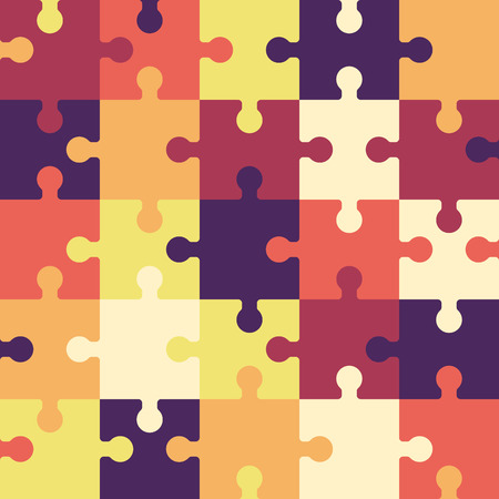 Bright puzzle seamless background or pattern.