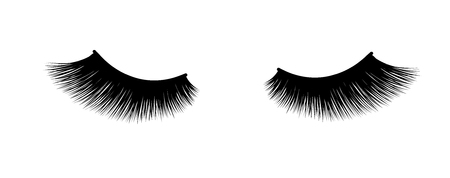 Eyelash extension. Thick fuzzy cilia. Mascara for volume and length.