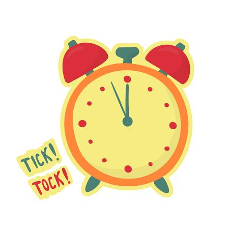 alarm clock make tick tock. Last minute symbol. Time is over