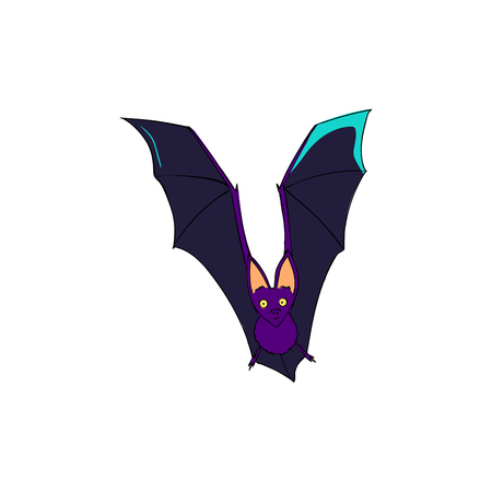 Bat is a nocturnal animal. A symbol of Halloween. The bat in flight