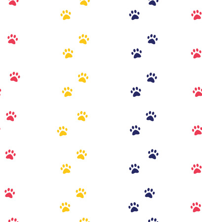 cat or dog paw seamless patterns. backgrounds for pet shop websites and prints. Animal footprint. Cute trendy colors pattern