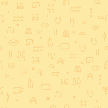 seamless pattern Egyptian hieroglyphs. Ethnicity Ancient Egypt. archeology and history . Background 免版税图像 - 107261367