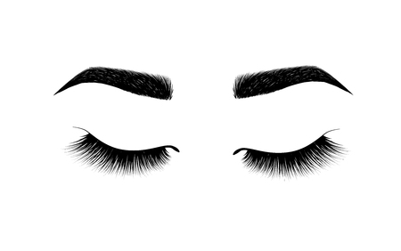 eyebrow perfectly shaped. permanent make-up and tattooing. Cosmetic for eyebrows. Beauty salon. Eyelash extension. A beautiful make-up. Thick fuzzy cilia. Mascara for volume and length.