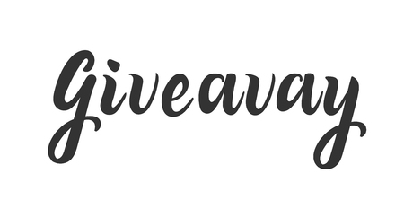 giveaway lettering for social media and blog. Give away. Hand drawing of ink
