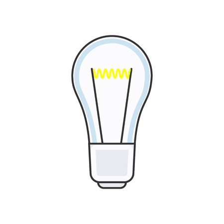 Modern linear icon of light bulb. Business insider or idea