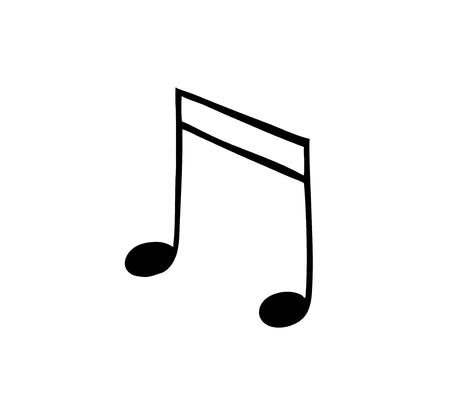 music note. Isolated icon. Symbol of melody. Vector illustration Çizim