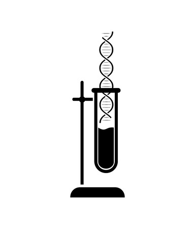 dna and test-tube icon. Symbol of medical or chemical laboratory. Lab logo