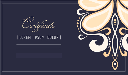 Makeup certificate template. beauty school or refresher courses for beautician. Make up cosmetic or spa care diploma. design template. Illustration