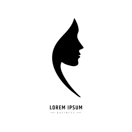 logo woman face. Logo for a beauty salon or procedures for hair cosmetics or hairdresser