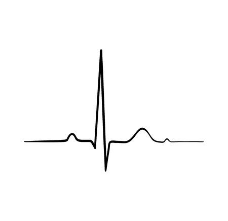 ecg heartbeat. cardiology symbol. logo for cardiologist. Medical icon