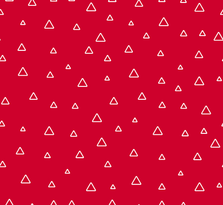 Triangles abctract seamless pattern. Red background with geometric shape.  イラスト・ベクター素材