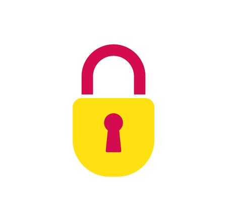 lock modern illustration. Flat line icon safety