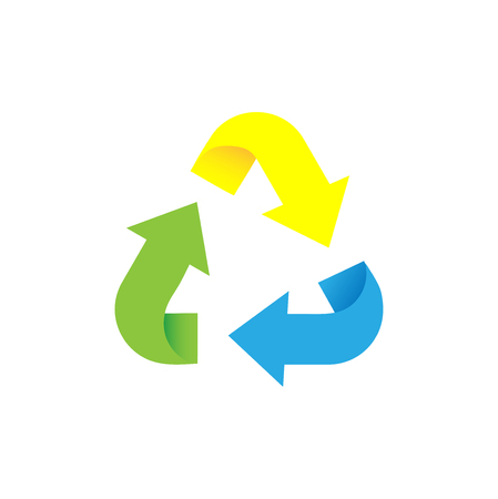 Recycling arrow sign. Sorting garbage. Recycle waste icon Ilustração