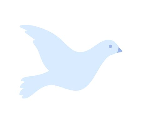 Dove isolated bird. Symbol of hope and freedom. Christianity icon